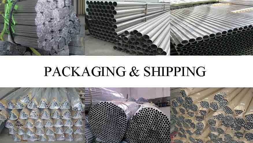Packaging and shipping of China factory 100mm aluminum pipe