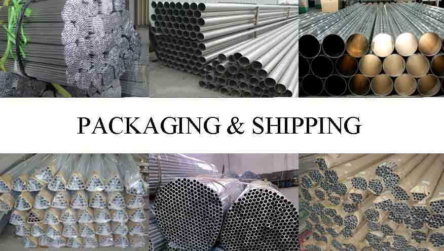 Packaging and shipping of Aluminum pipe rack For Building