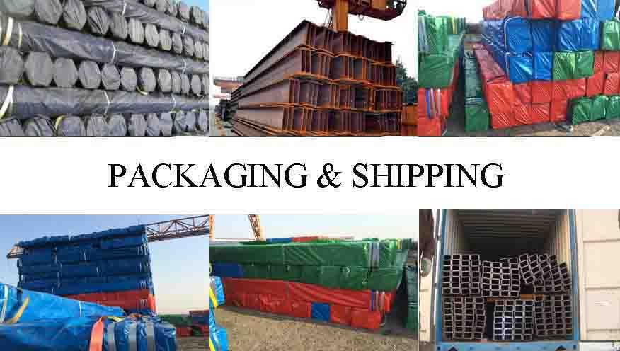 packing&shipping of Steel Channel Manufacture Ss400 standard H beam and I Beam Factory From China