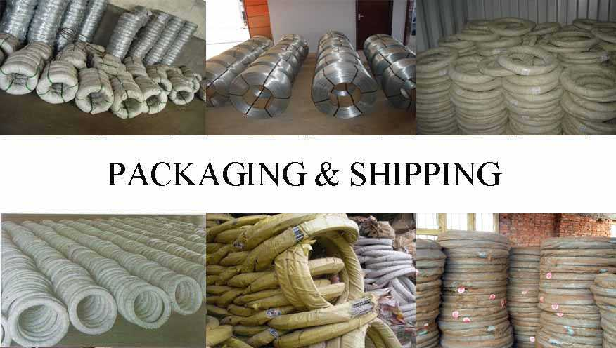 Packaging and Shipping of galvanized steel wire factory price made in China