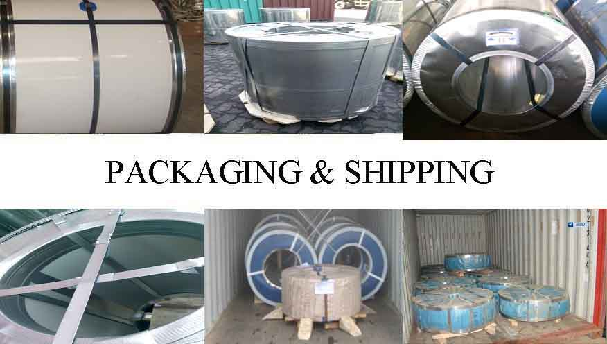 PACKAGING AND SHIPPING OF GI/GL COIL