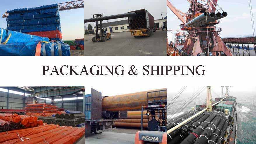 packaging and shipping of Q235B Hot rolled steel pipe