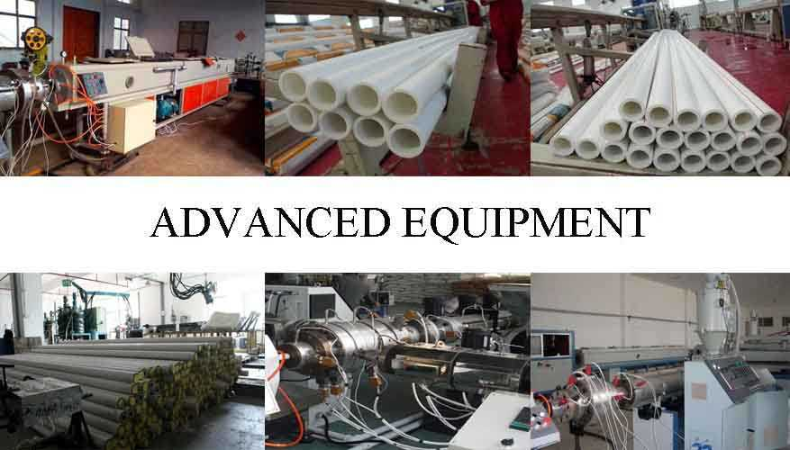 Advanced equipment of All types of ppr pipe fittings from factory