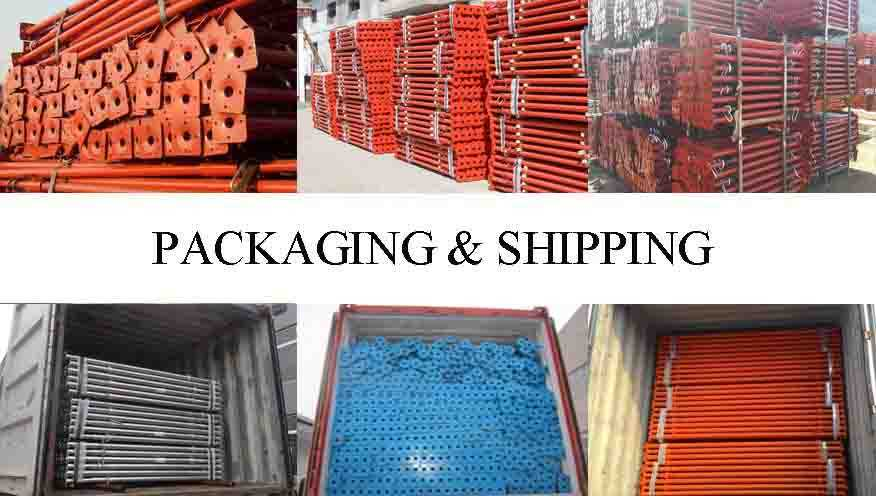 packaging and shipping of High quality steel prop in china
