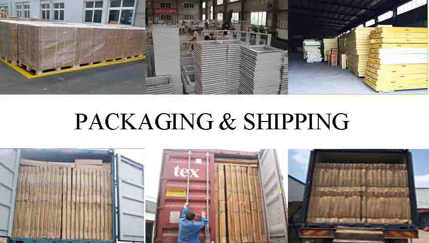 Packaging and shipping of High quality security door in china