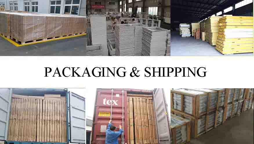 Packaging and shipping of latest design wooden doors in china
