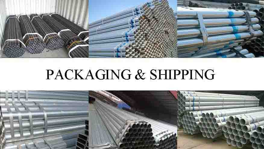 PACKAGING AND SHIPPING OF Price Lowered With scaffolding steel pipe 48.3mm In China