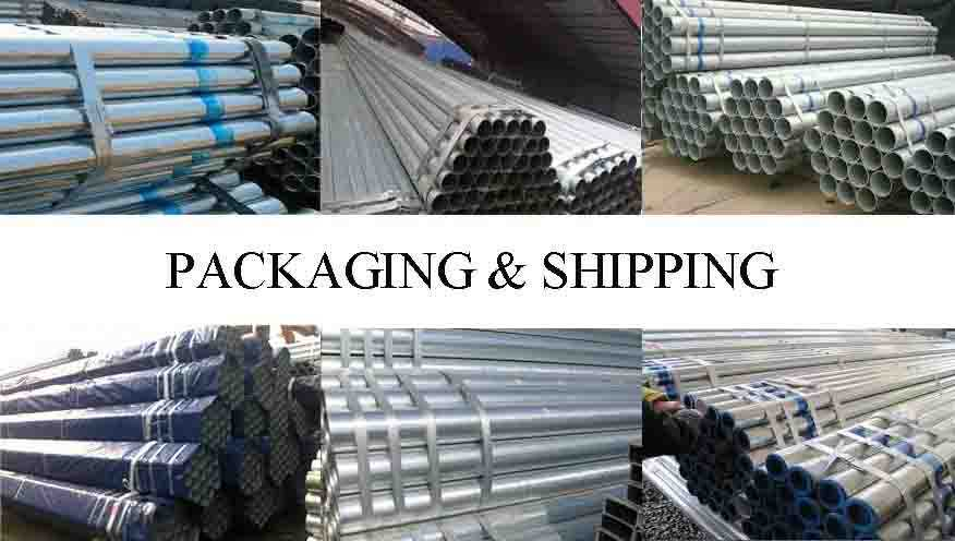 PACKAGING AND SHIPPING OF scaffolding frame pipe made in China