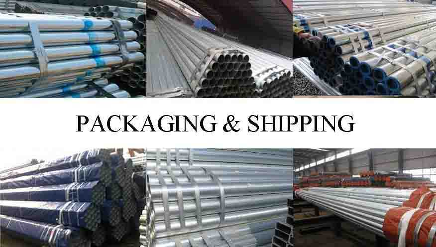 PACKAGING AND SHIPPING OF Iron pipe scaffolding with high quality and low price made in China