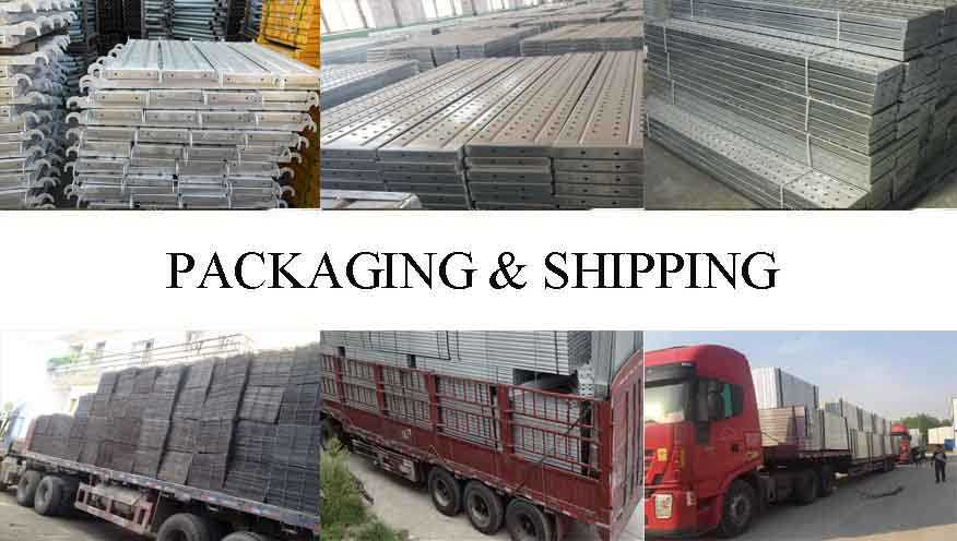 Packaging and shipping of Scaffolding Steel Plank Supplier in China
