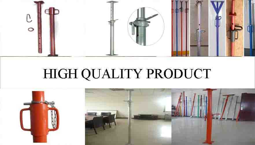 High quality product of High quality adjustable telescopic steel prop with reasonable price for sale