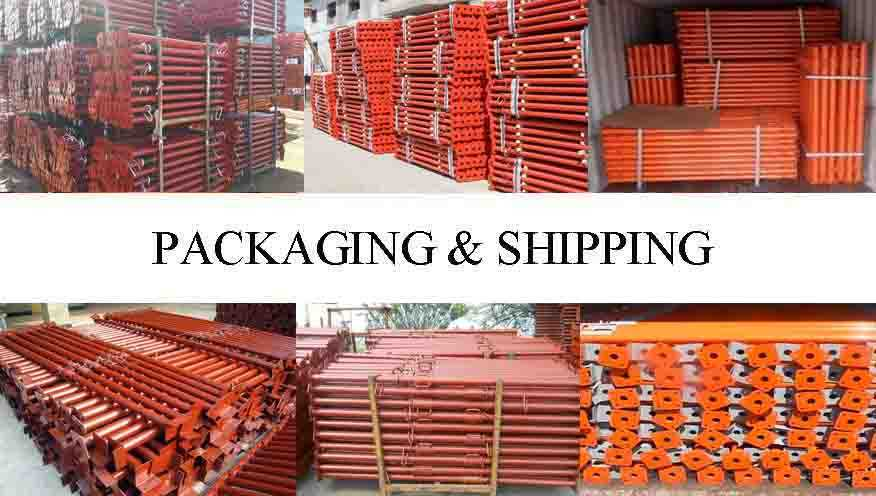 Packaging & shipping of  High quality adjustable telescopic steel prop with reasonable price for sale