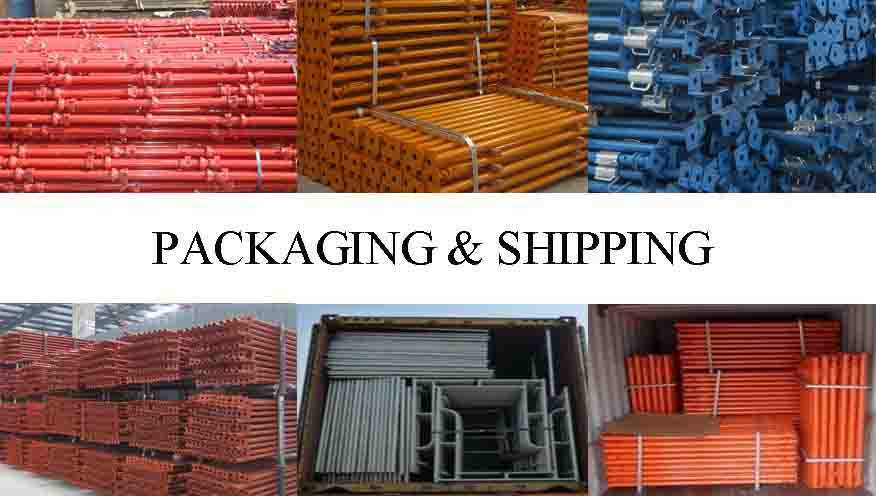 Packaging and shipping of ladder scaffolding system in china