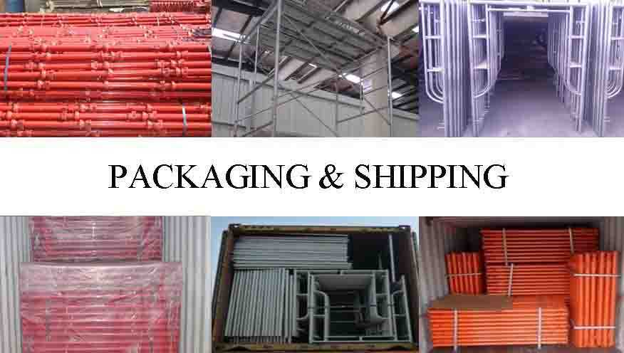 Packaging and shipping of best product movable scaffolding system in China