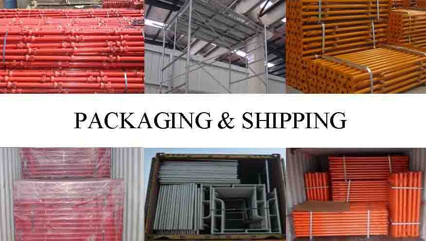 packaging and shipping of high quality scaffolding system bracket supplier in China