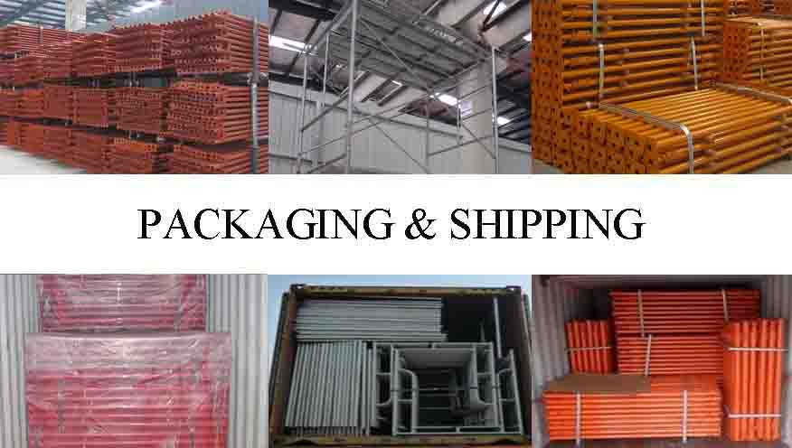 Packaging and shipping of Price lowered of Q235 scaffolding system china factory