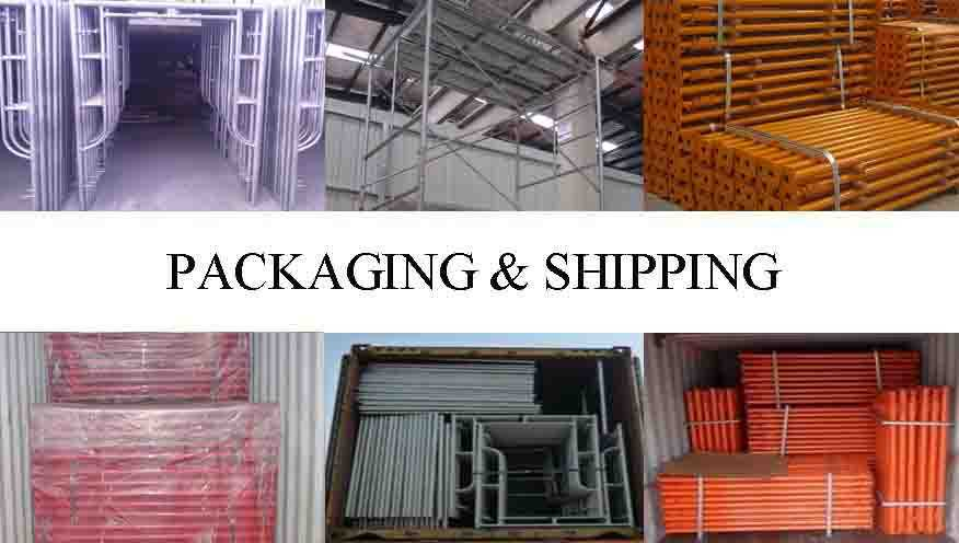 Packaging and shipping of scaffolding frame system Q195,Q215,Q235 made in China