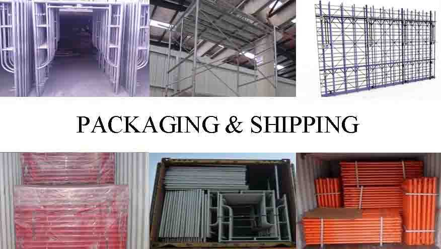 Packaging and shipping of types of scaffolding system with high quality and low price