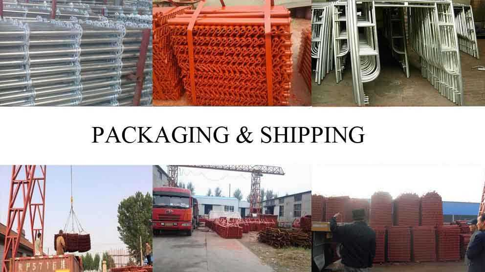 Packaging and shipping of Frame scaffolding made in china