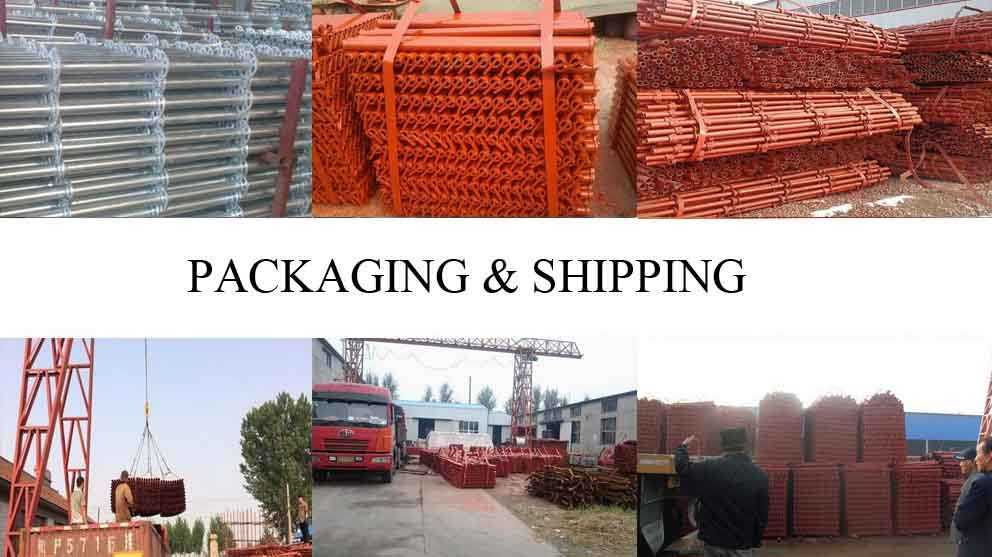 Packaging and shipping of scaffolding tube from factory