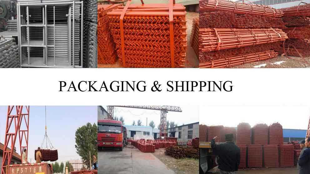 Packaging and shipping of Original Chinese Roof scaffolding