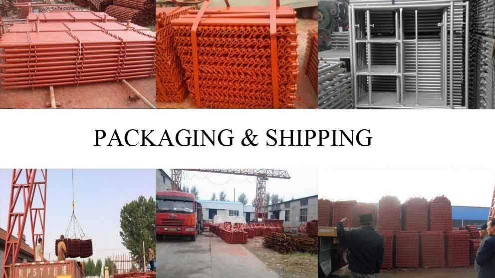 Packaging and shipping of decoration scaffolding manufactruer