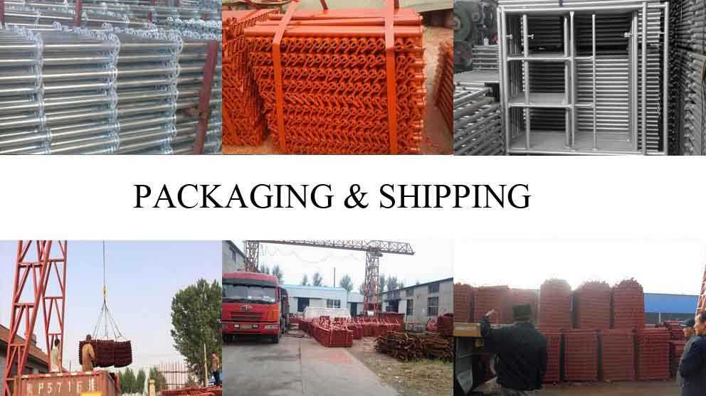 Packaging and shipping of High quality Moving scaffolding with the best price