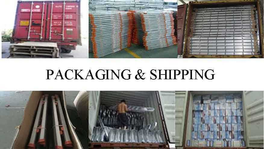 packing&shipping of used scaffolding for sale made in China
