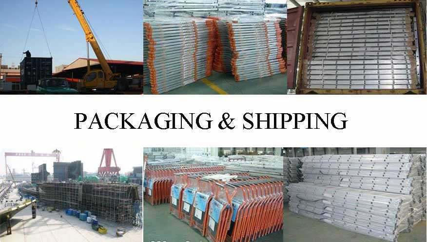 Packaging and shipping of scaffolding ladder with the best price in china