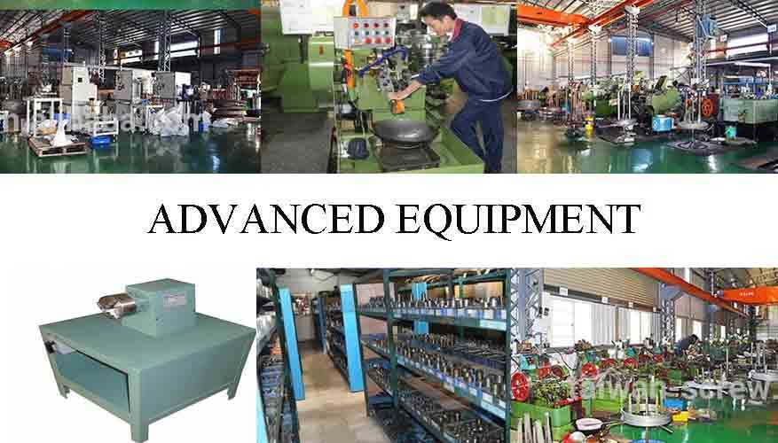 advanced equipment of  professional and hot sale self drilling screw supplier in China