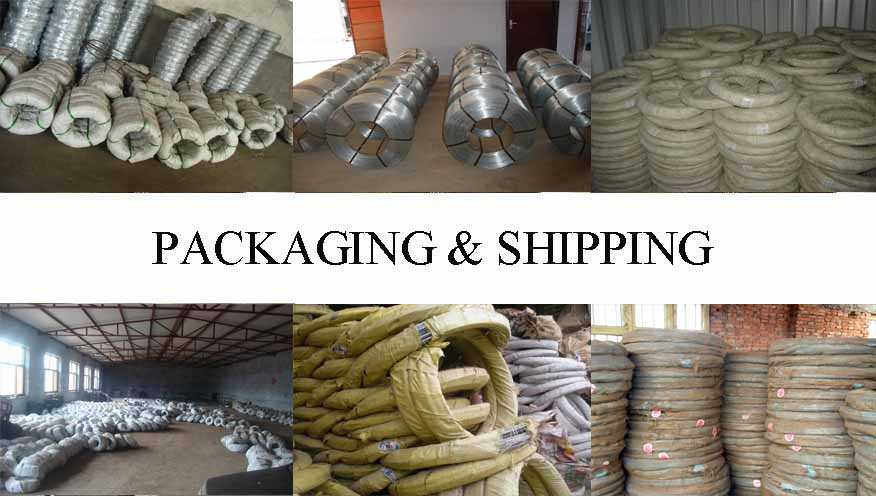 Packaging & Shipping of Galvanized Steel Wire best product with low price