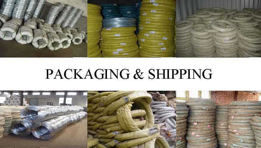 Packaging & Shipping of Galvanized wire with the best price