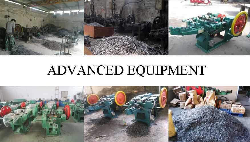 Equipment of Galvanized concrete steel nails/bulk nails factory