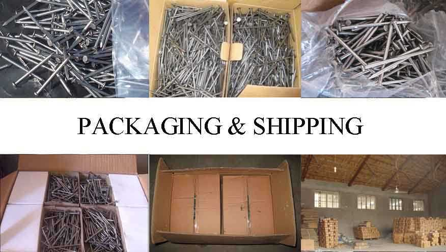 Packaging & Shipping of Galvanized concrete steel nails/bulk nails factory