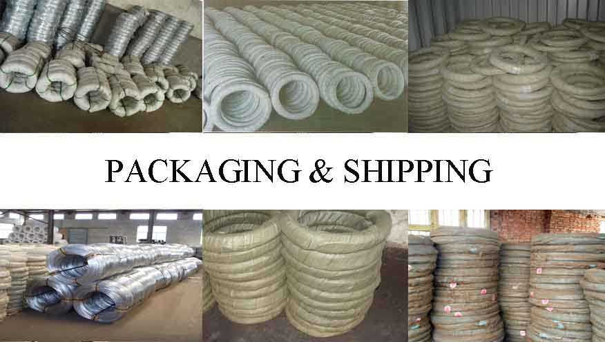 Packaging & Shipping of Hot dipped galvanized wire