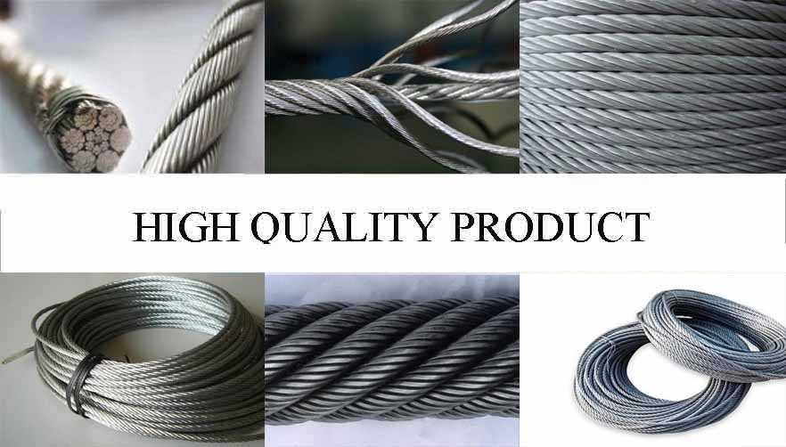 High quality product of alvanized steel wire rope