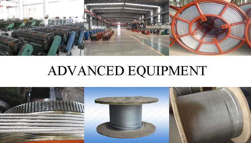 Equipment of alvanized steel wire rope