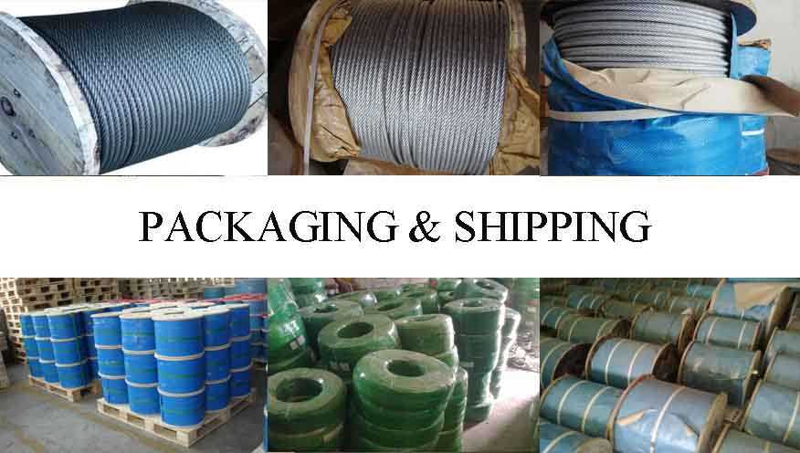 Packaging & Shipping of alvanized steel wire rope
