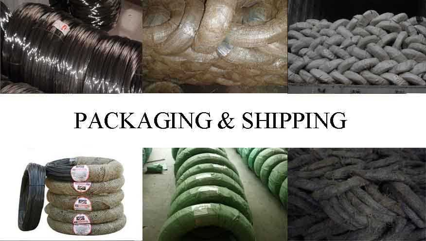 Packaging & Shipping of black annealed binding wire