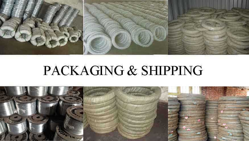 Packaging & Shipping of Hot sale galvanized wire made in China