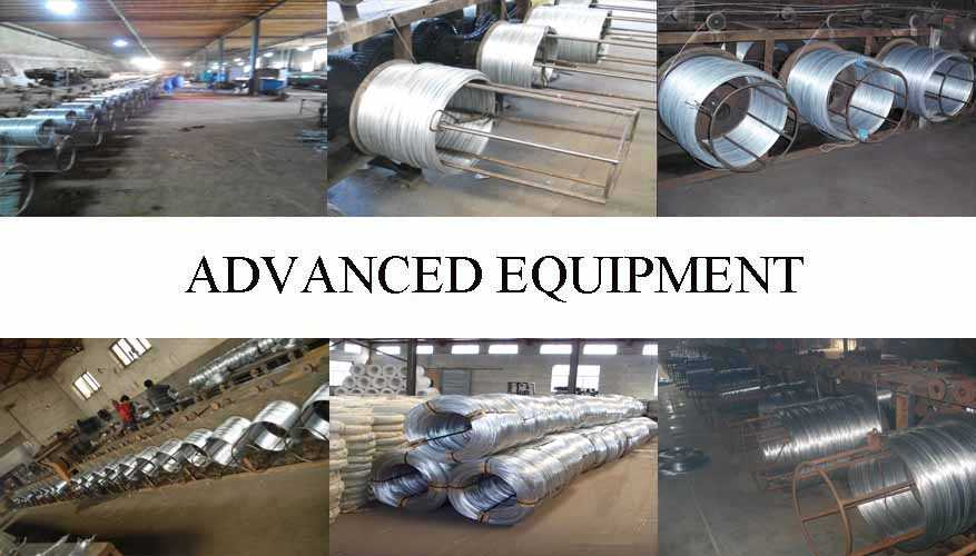 Equipment of galvanized wire