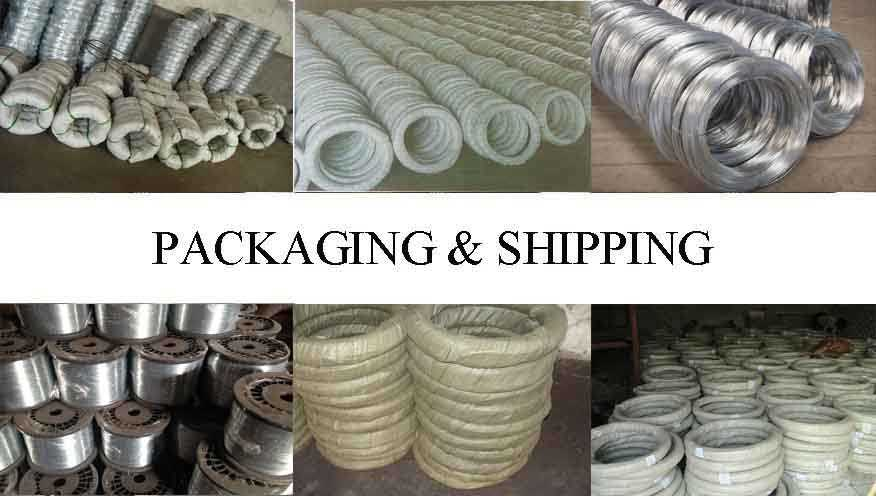 Packaging & Shipping of galvanized wire