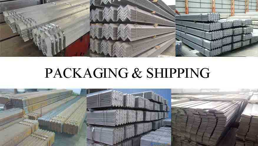 PACKAGING AND SHIPPING OF Steel angle bar for construction