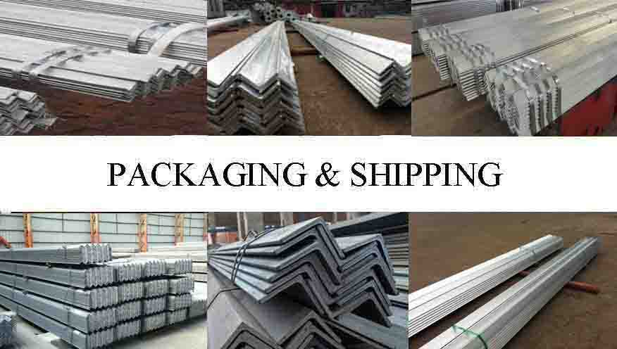 PACKAGING AND SHIPPING OF High quality Galvanized steel Angle