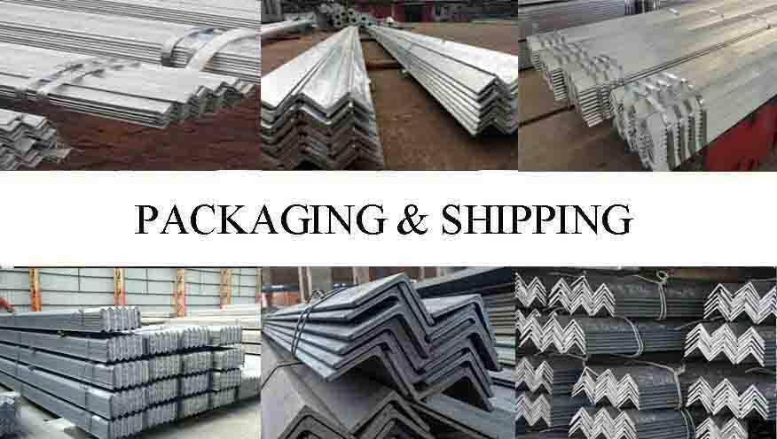 PACKAGING AND SHIPPING OF Mild steel angle bar made in China