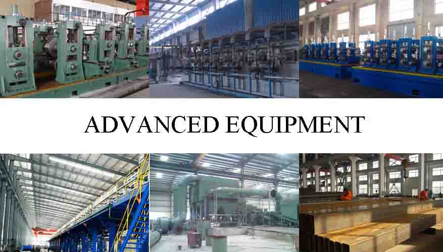advance equipment of of hot dip galvanized rectangular steel pipe