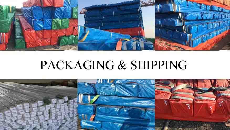 packaging and shipping of of hot dip galvanized rectangular steel pipe