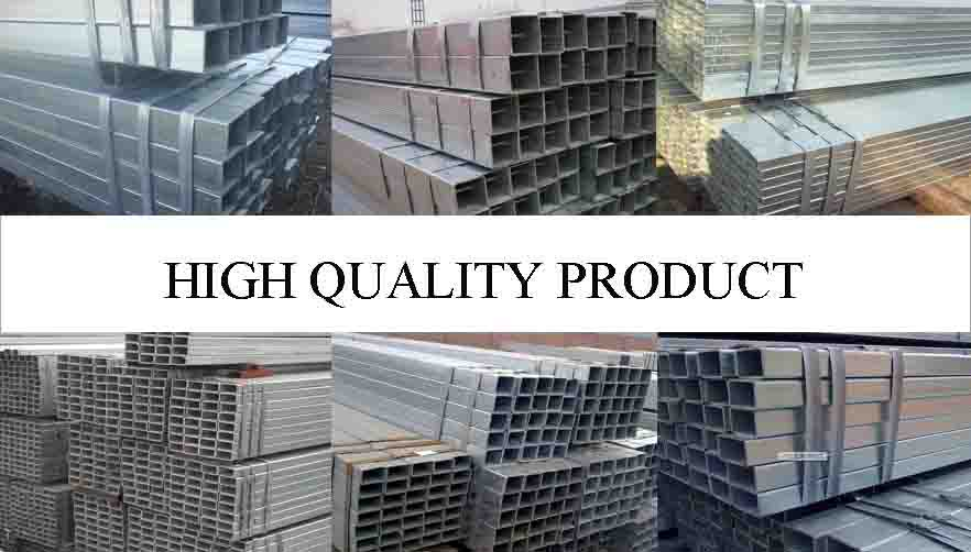 high quality of hot sale galvanized square steel pipe