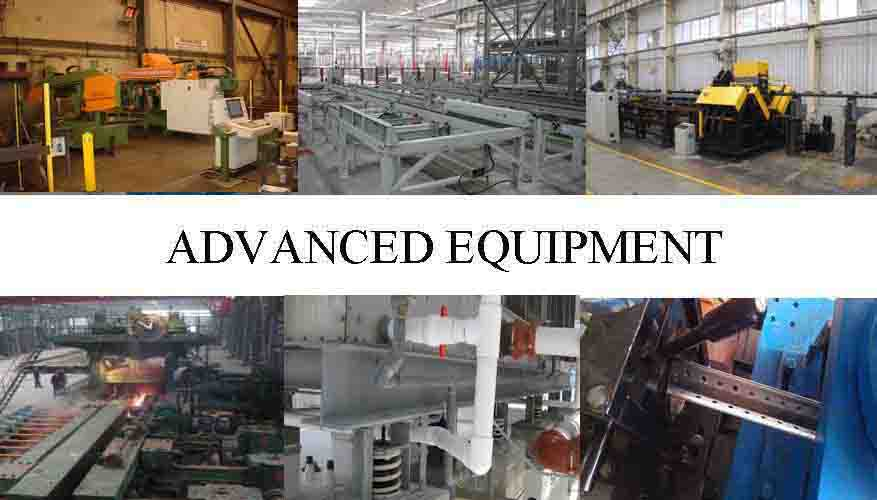 ADVANCE EQUIPMENT OF Steel angle bar factory for construction