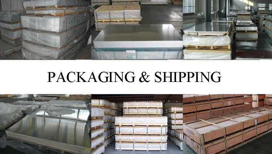 packaging and shipping of pure aluminium sheet in China